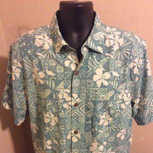 Tommy Bahama Silk Coolmax Button Shirt sz Large